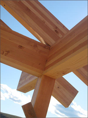 Timberframe detail bu Big Valley Construction